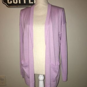 Nordstroms Halogen Soft Purple Cardigan Size Med